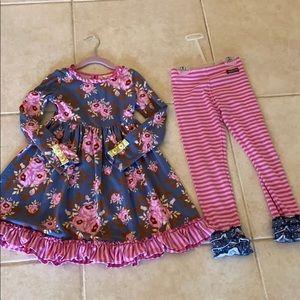 Matilda Jane dress & leggings